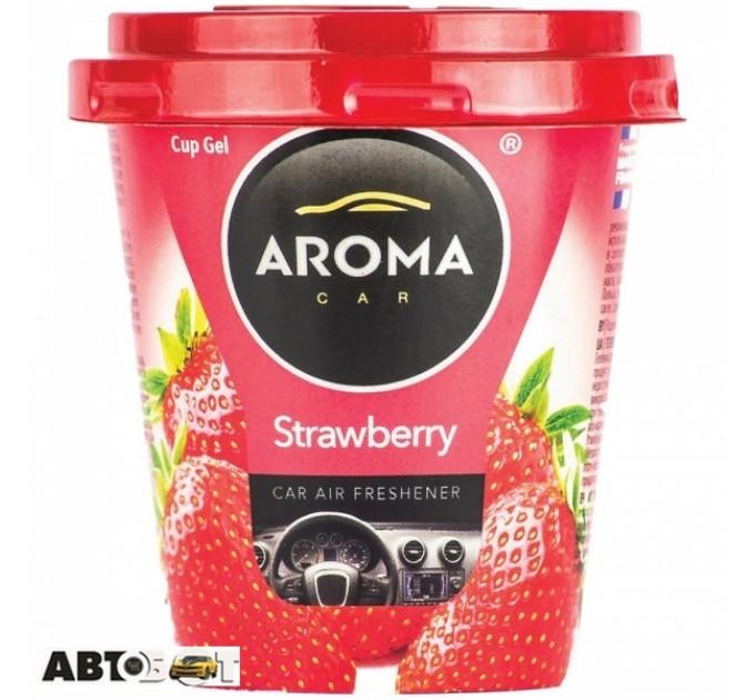 Ароматизатор Aroma Car Cup Gel Strawberry 92781 130г