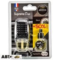 Ароматизатор Aroma Car Supreme DUO Slim BLACK 92259 2x7мл