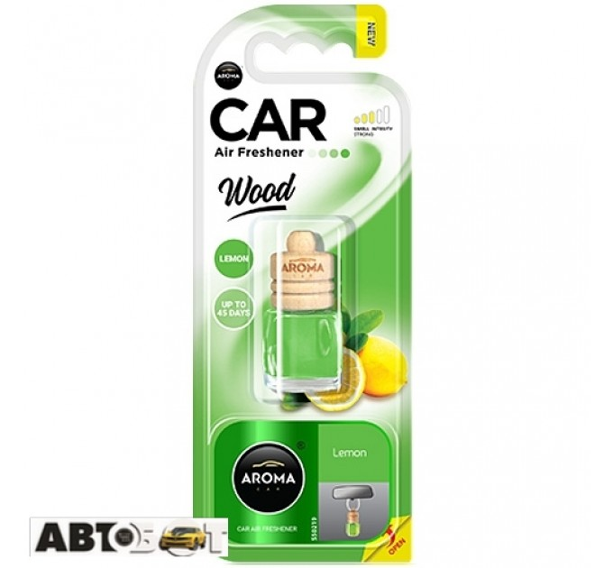 Ароматизатор Aroma Car Wood LEMON 63108 6мл