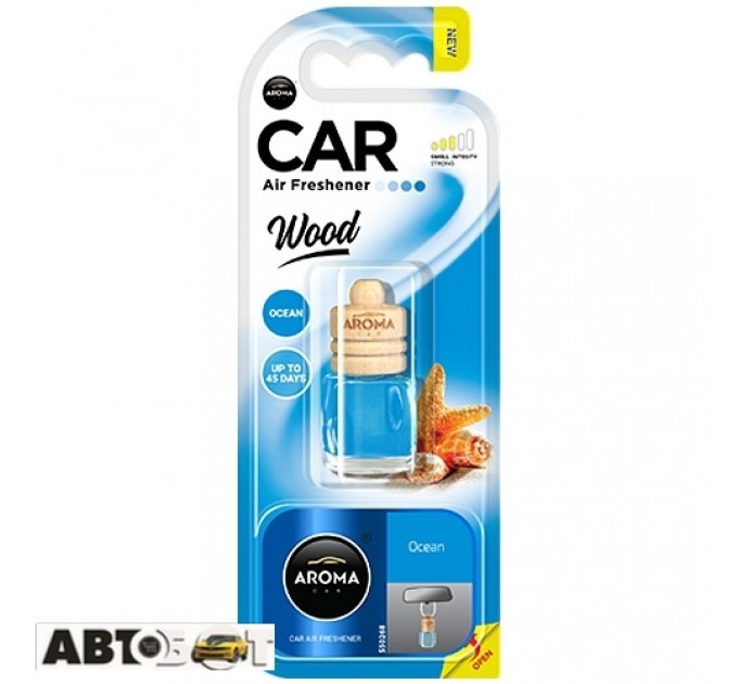 Ароматизатор Aroma Car Wood OCEAN 63109 6мл