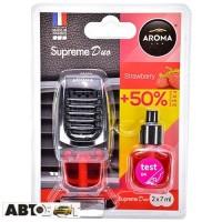 Ароматизатор Aroma Car Supreme DUO Slim STRAWBERRY 92254 2x7мл