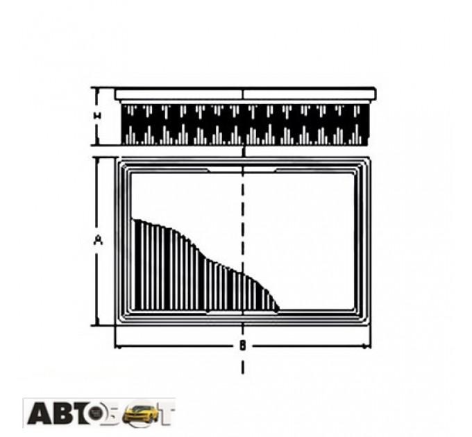 Воздушный фильтр SCT SB 068