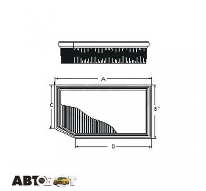 Воздушный фильтр SCT SB 2178