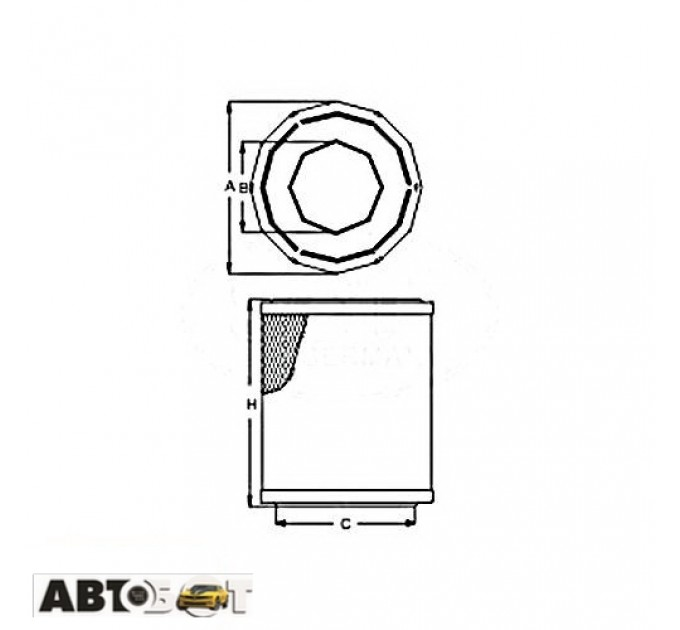Воздушный фильтр SCT SB 2188