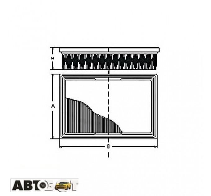Воздушный фильтр SCT SB 2099
