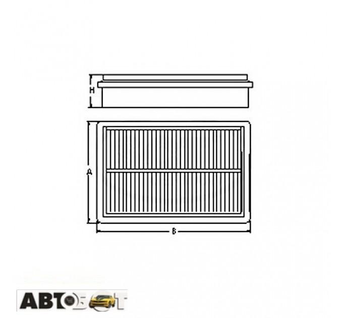 Воздушный фильтр SCT SB 2201