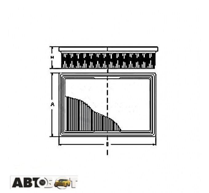 Воздушный фильтр SCT SB 2238
