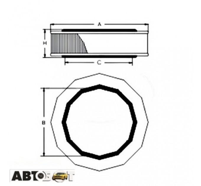Воздушный фильтр SCT SB 236