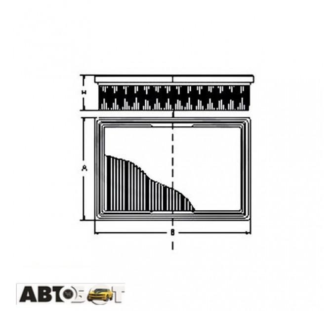 Воздушный фильтр SCT SB 295