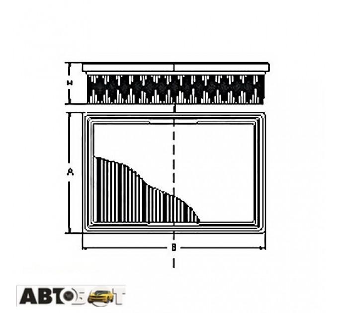 Воздушный фильтр SCT SB 648