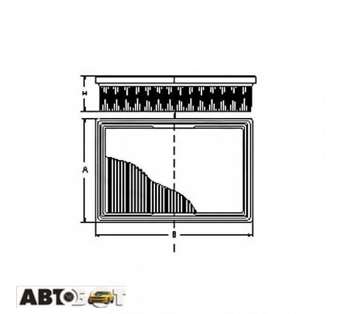 Воздушный фильтр SCT SB 2015